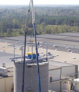 Mix Pro on a factory roof